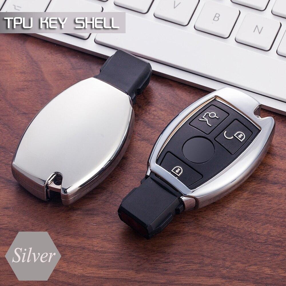 Control remoto caso de TPU suave protección inteligente cubierta conjunto para Mercedes Benz W203 W210 W211 W202 W204 AMG CLK E200 C E S clase