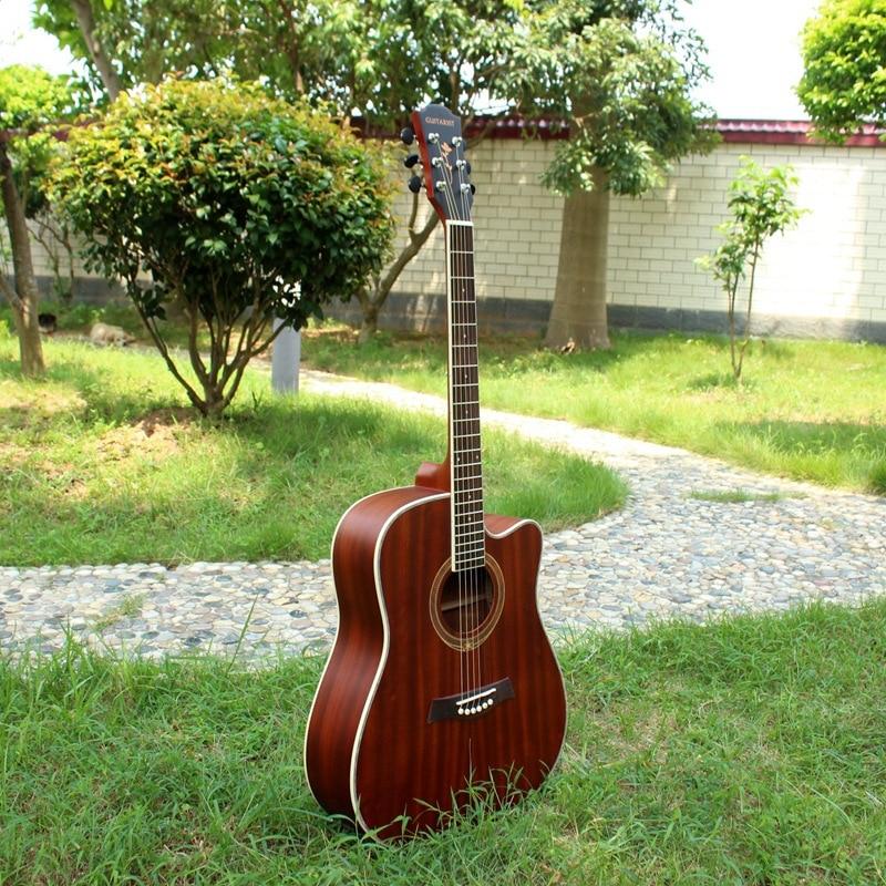 Guitarra de madera contrachapada de 41 pulgadas para principiantes