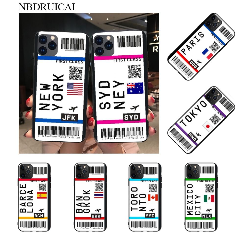 NBDRUICAI, bonita funda de teléfono suave de TPU negro de primera clase, carcasa para iPhone 11 pro XS MAX 8 7 6 6S Plus X 5S SE XR