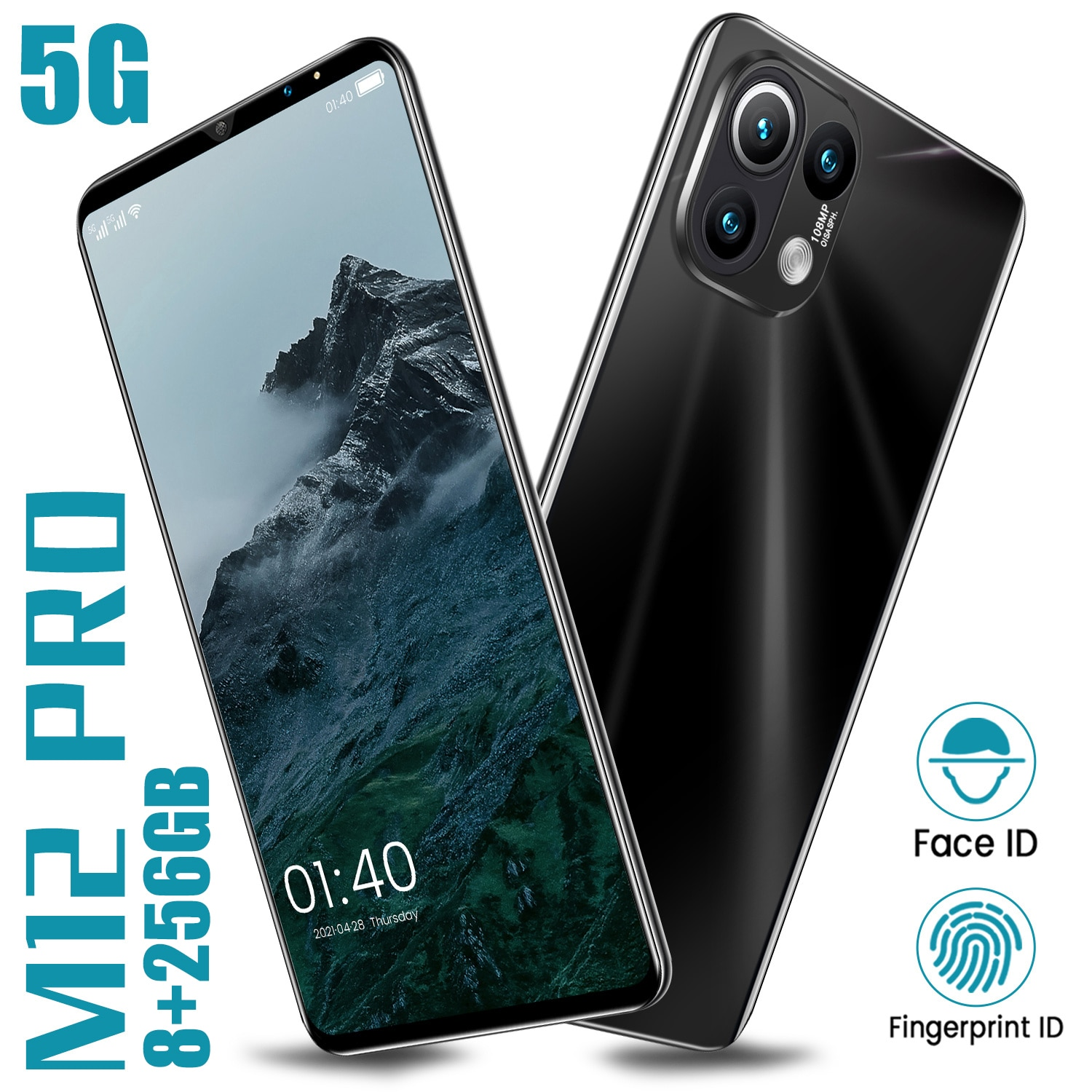 XIAOM12 Pro 1440*3200 8+256GB 6.1Inch Full Screen Android11 MTK6889 Deca Core 32+64MP Dual SIM Card 6000mAh Long Standby Face ID enlarge