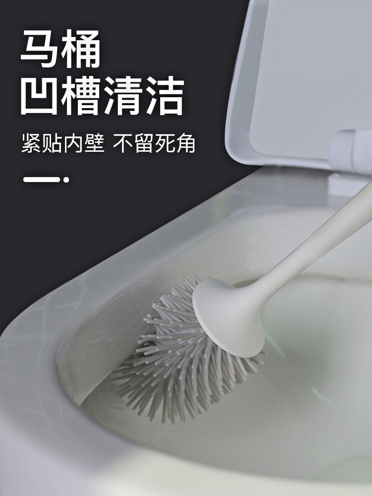 Durable Creative Toilet Brush Set Wall Mounted Quick Drying Toilet Brush Silicone Useful Cepillo Inodoro Cleaning Tools DK50TB enlarge