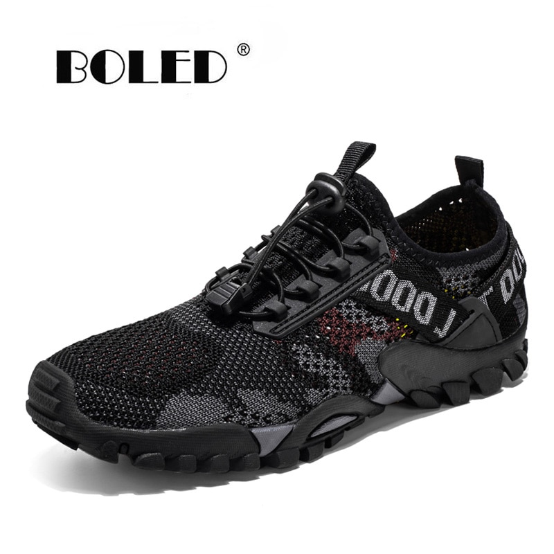 Plus Size Mesh Climbing Men Shoes Spring Outdoor Sneakers Comfortable Quick-dry Hiking