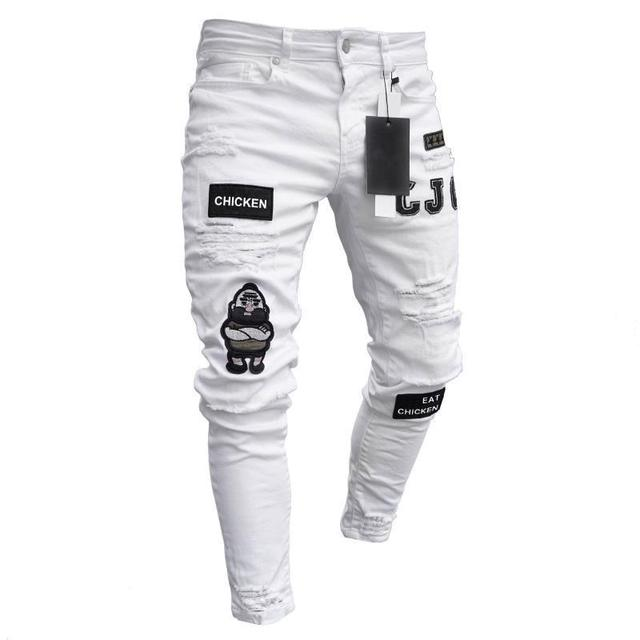 NEW Embroidered Fashion Street Jeans 8