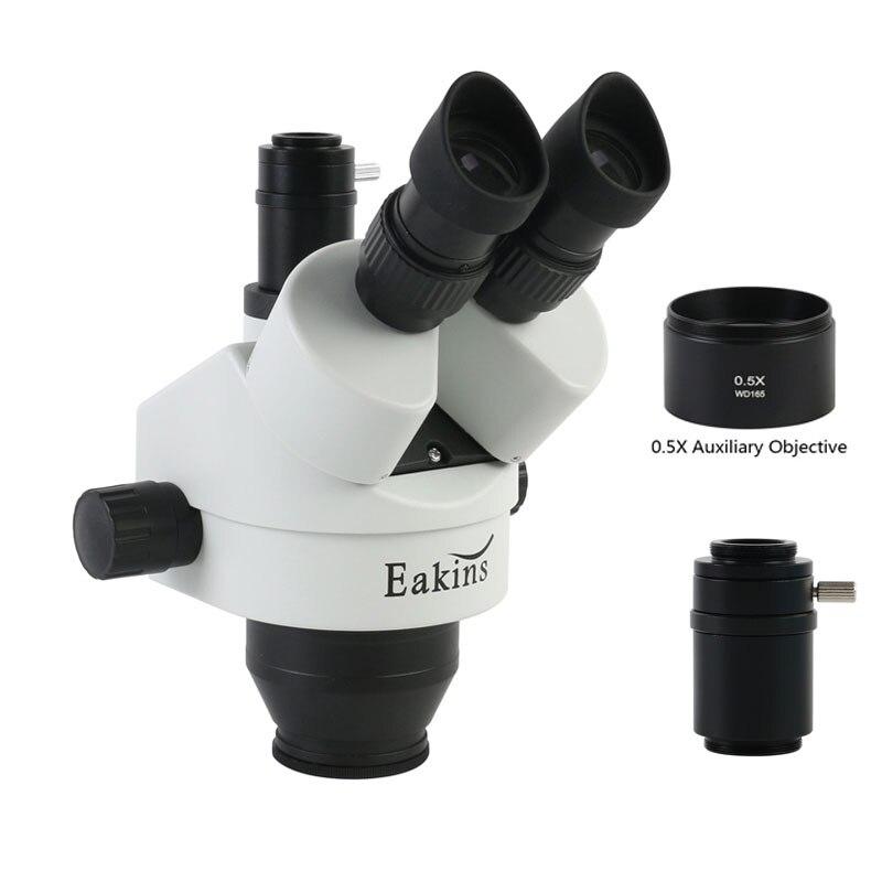 7x-45X مجهر الصناعية ثلاثي العينيات مجهر ستيريو رئيس التكبير المستمر + WF10X/20 مللي متر كبير المجال العدسة لإصلاح الهاتف
