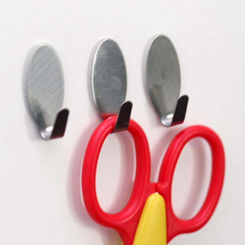 حامل عصا من الفولاذ المقاوم للصدأ ، شماعات ملابس ، علاقة ملابس ، منزل ، مطبخ ، باب حائط ، لاصق بسيط ، LX8276
