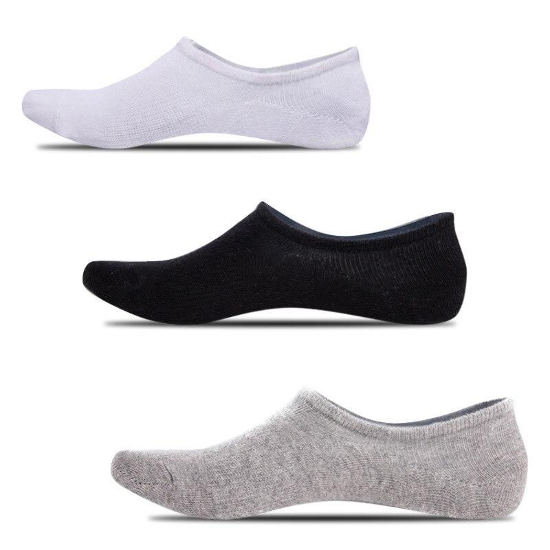 Модные новые мужские носки-лодочки DOIAESKV, летние короткие носки, Нескользящие силиконовые невидимые хлопковые носки, мужские носки до щикол...