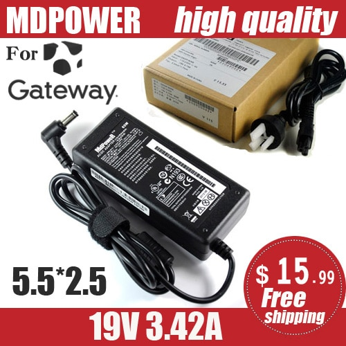 MDPOWER For Gateway 19V 3.42A 65W Universal Laptop Power Adapter Charger Wire Feed