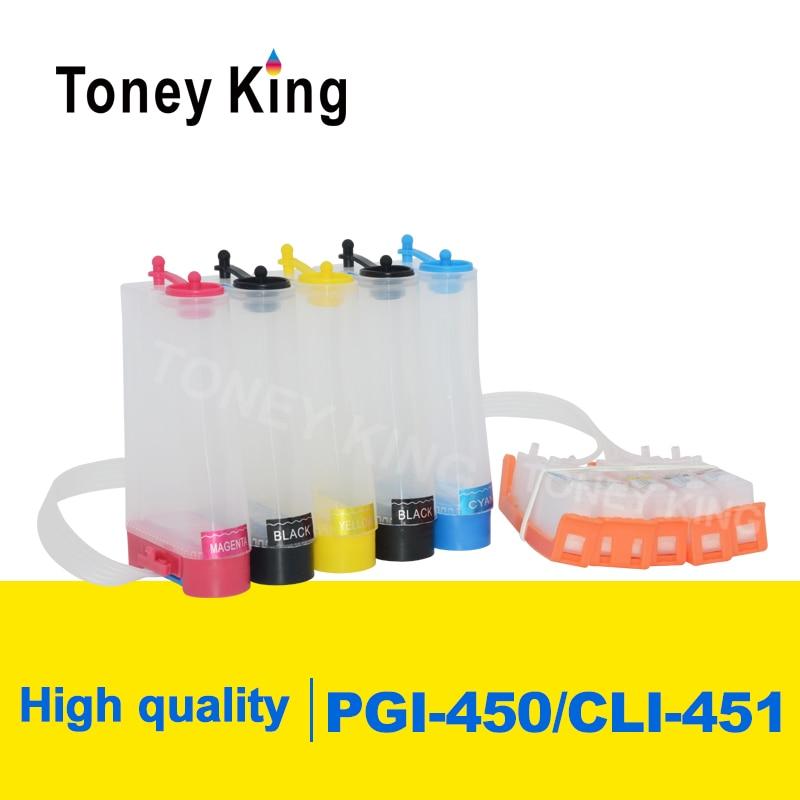 Toney rey PGI-450 CLI-451 CISS sistema de suministro de tinta para Canon PIXMA MG5440 MG5540 MG5640 MG6340 MG6440 MG6640 MG7140 impresora