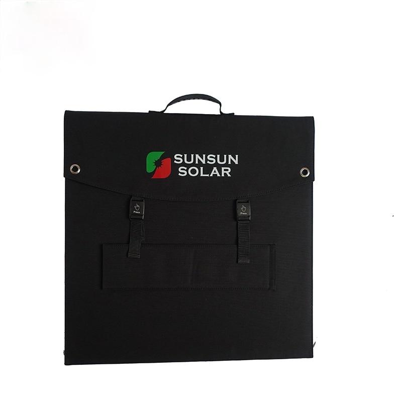 لوحة شمسية قابلة للطي أحادية 100 واط لشحن الطاقة الشمسية المحمولة في الهواء الطلق