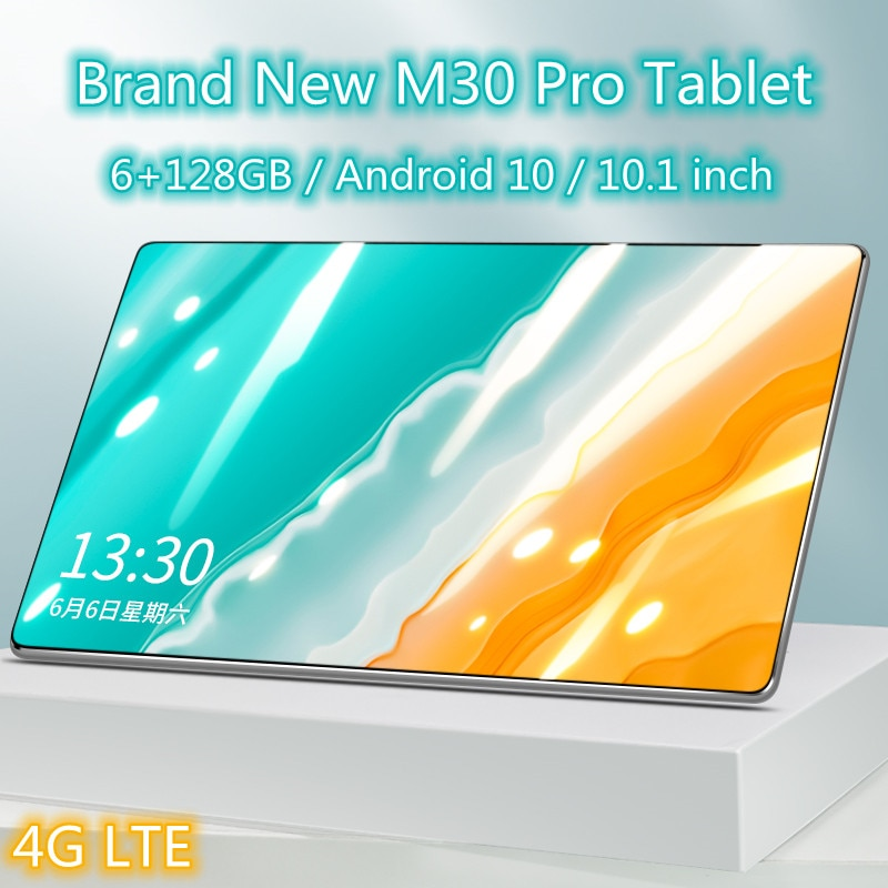 New M30 Pro 10.1 inch Tablet Android 10 Ten core 6GB RAM 128GB ROM tablets PC 1920x1200 4G Network D