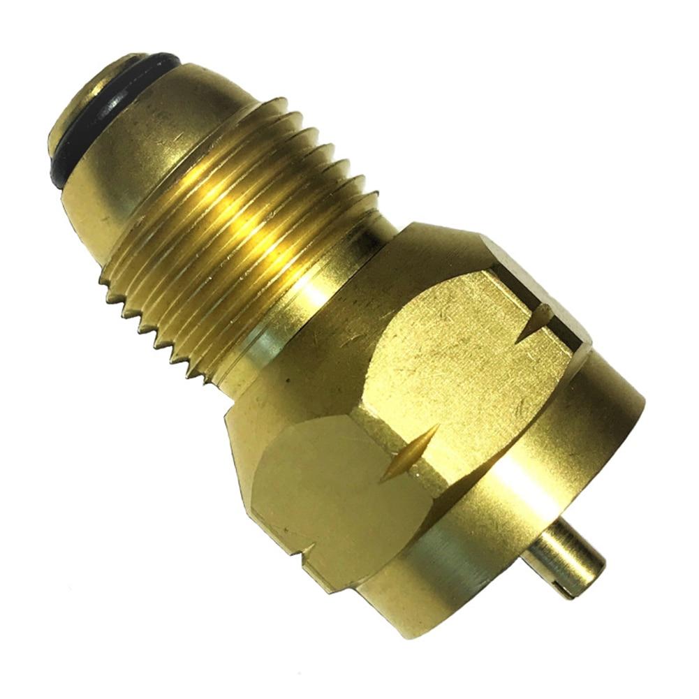 Adaptador de recarga de propano Lp Gas 1lb tanque de cilindro pequeño latón Colman calentador cáscara accesorios de la estufa al aire libre