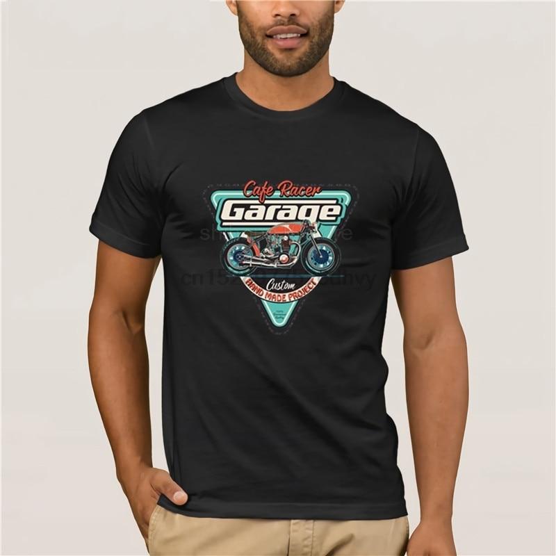 Verano de 2019 O el cuello de la marca de los hombres de algodón de la ropa de gran oferta T camiseta de Cafe Racer Vintage Moto de No hay felicidad camisetas