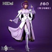 Fate/Grand orden FGO scátach Lancer disfraz cosplay de mujer vestido de regalo de Navidad trajes conjuntos completos vestidos