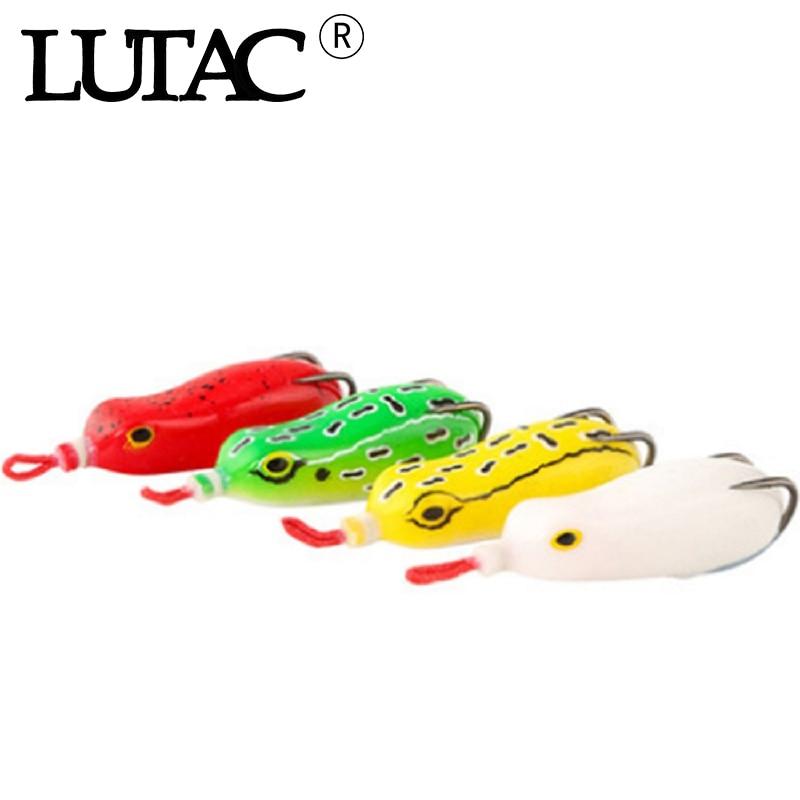 LUTAC 4 шт./компл. 15 г приманка-лягушка для рыбалки Мягкая приманка-Спиннер для кальмаров, лягушка, джиг-ложка, Тролли, Мягкая приманка Модифицир...