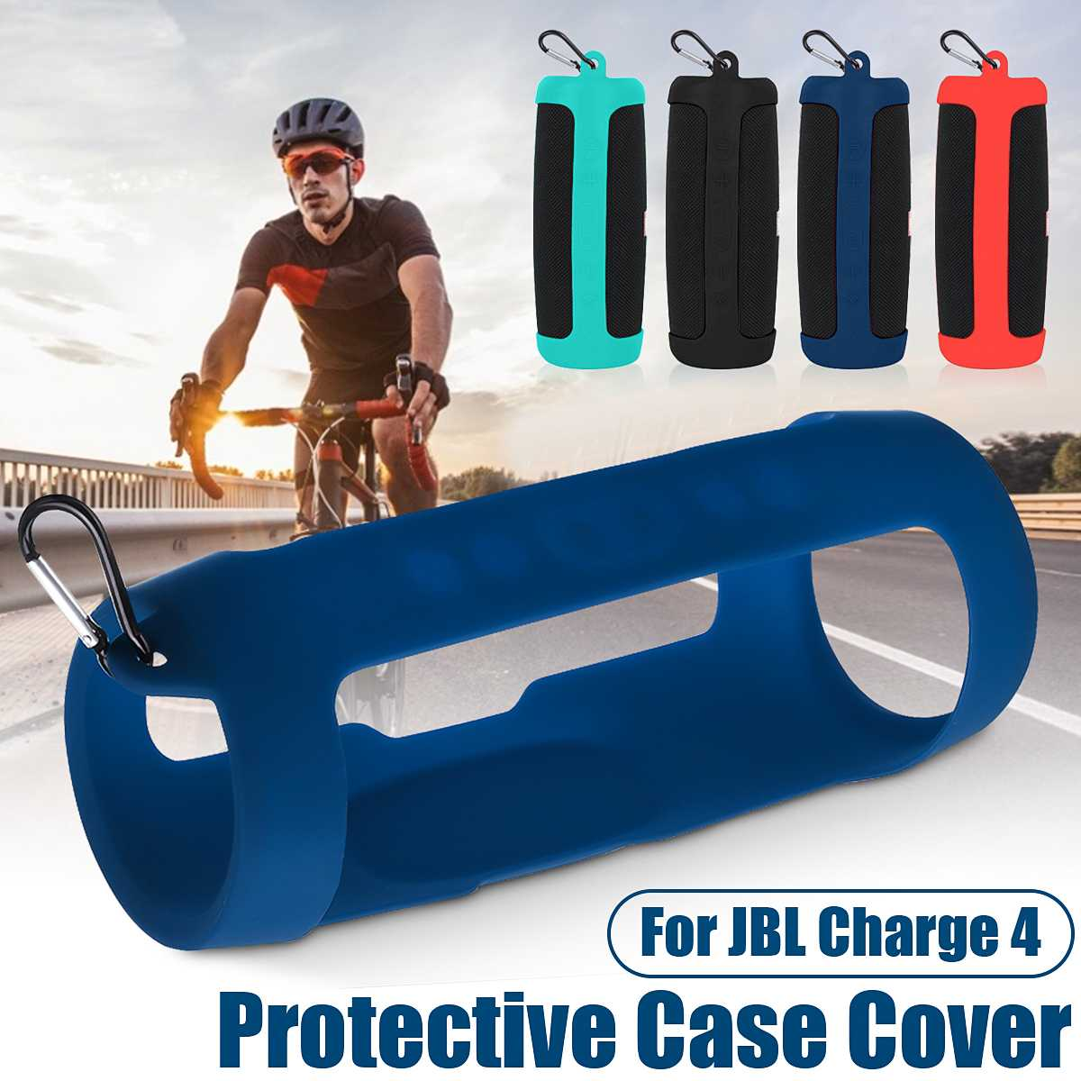 Silicone Protective Case Non-Slip Protective Cover For JBL Charge 4 bluetooth Speaker Shookproof Durable Eco-friendly Soft Cover