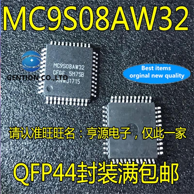 5 peças mc9s08aw32 mc9s08aw32cfge 5m75b mc9s08aw32cfue microcontrolador chip em estoque 100% novo e original
