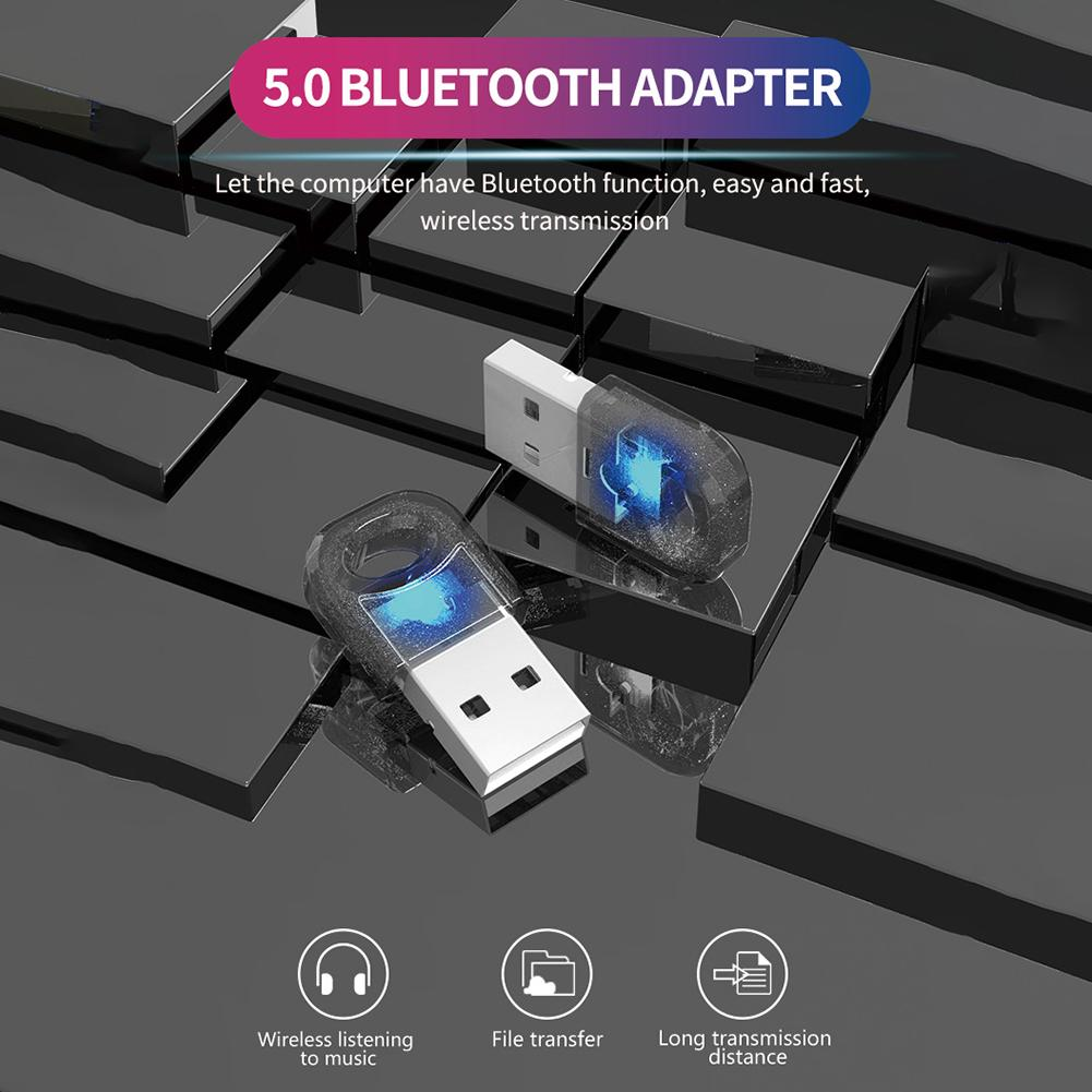 Adaptador de transmisor receptor de Audio inalámbrico USB Bluetooth 5,0 para ordenador PC