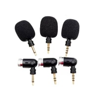 mini microphone bendable flexible straight 3 5mm jack aux mono stereo 4 pole mic for mobile phone computer laptop pc recorder