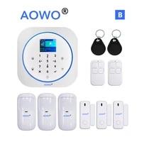 Systeme dalarme de securite domestique sans fil  GSM  wi-fi  pour maison connectee  compatible avec Alexa et Google