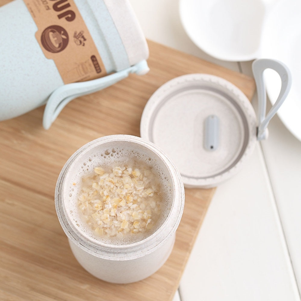 Fiambrera de Material saludable portátil, cajas Bento, vajilla para microondas, contenedor de almacenamiento de alimentos de paja de trigo de 3 capas en 2019