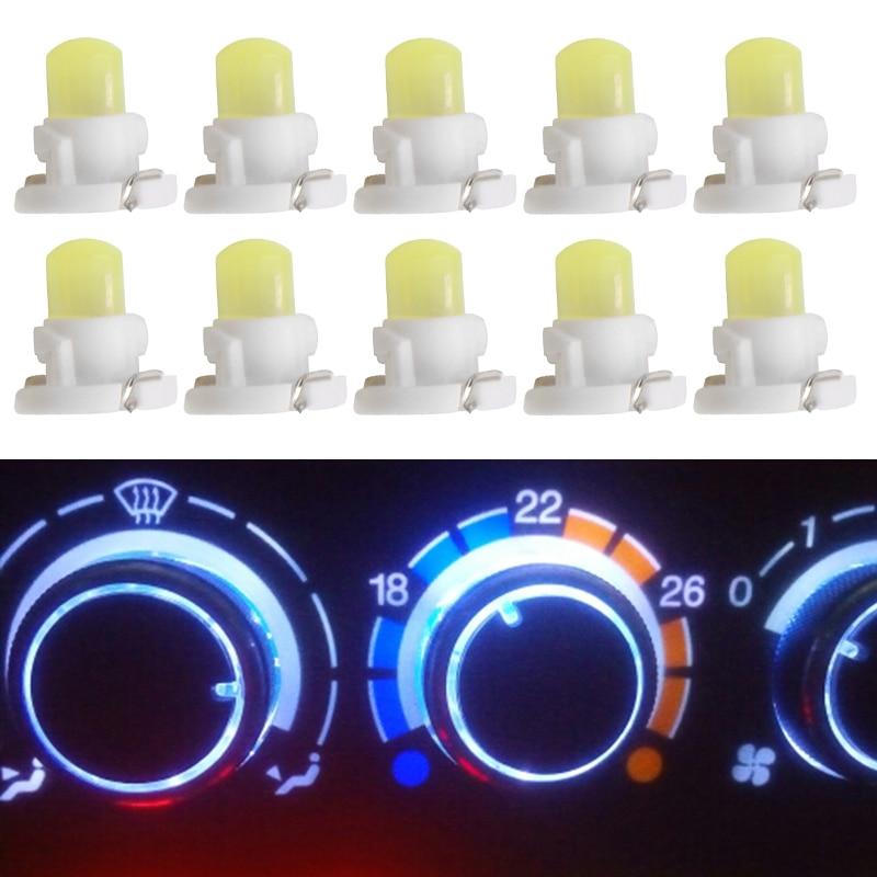 10 Uds T4.2 COB 1 SMD 12V coche LED tablero bobinado bombillas Panel de instrumentos Neo cuña luz indicador de advertencia estilo de coche