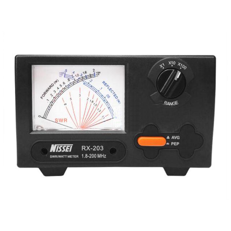 الأصلي نيسي RX-203 الطاقة متر 1.8-200Mhz قصيرة موجة الأشعة فوق البنفسجية الدائمة موجة متر SWR الرقمية السلطة متر RX203 ل اتجاهين راديو