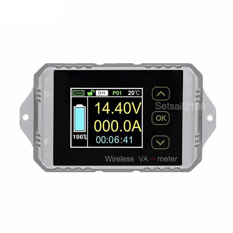VAT1300 DC 120V 300A Wireless Multifunction Battery Coulometer Coulomb meter Digital DC power watt meter battery capacity tester
