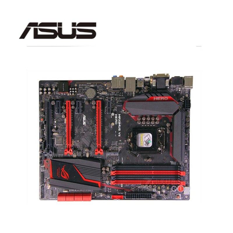 Для Asus MAXIMUS VII HERO настольная материнская плата Z97 LGA 1150 для Core i7 i5 i3 DDR3 SATA3 USB3.0 оригинальная б/у материнская плата
