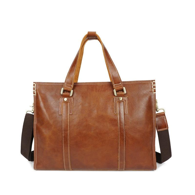 رسول حقيبة حقيقية وثيقة الجلود حقائب كروسبودي حقائب الرجال الجلود المحمول Vintage حقيبة يد الذكور حقائب الكتف عادية