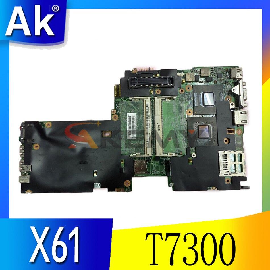 Akemy 63Y1004 اللوحة الرئيسية لينوفو ثينك باد X61 اللوحة الأم T7300 CPU 965GM DDR2