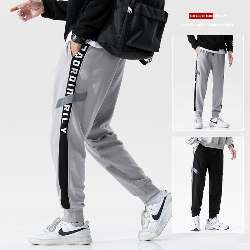 2021 Men Pants Trousers Streetwear Sweatpants Male Casual Fashion Pants Men Bodybuilding Clothing Reflective Joggers Pants