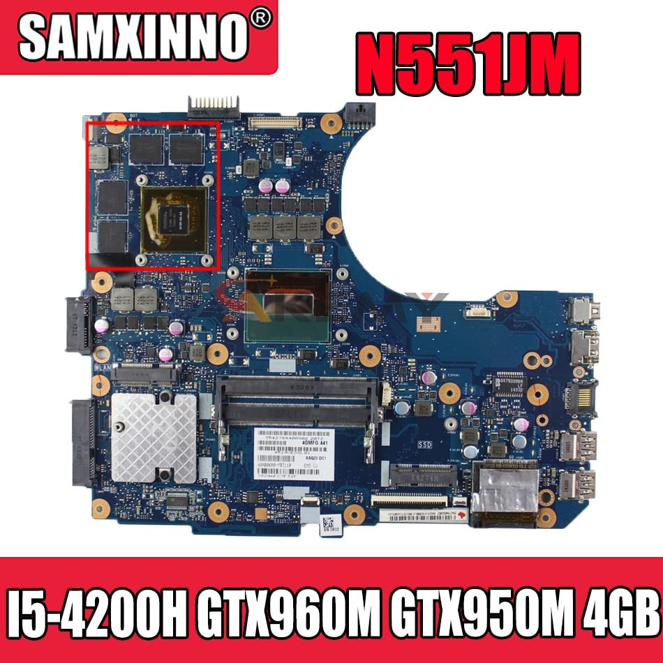 Akemy N551JM اللوحة لابتوب ASUS ROG G551JW G551JM N551JW G551J N551J اللوحة الأصلية I5-4200H GTX960M GTX950M -4GB
