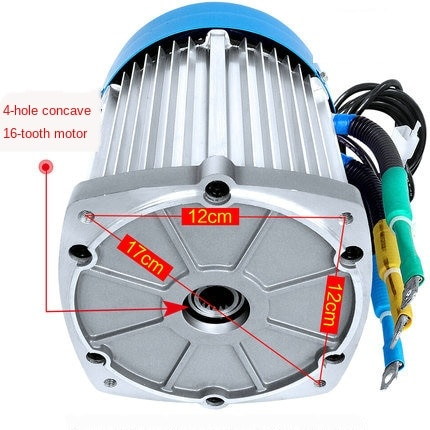 Electric Tricycle Motor 1500w72v3000w High Power High Speed Brushless Differential Water Battery 60v2200w Electrical YGC71 . enlarge