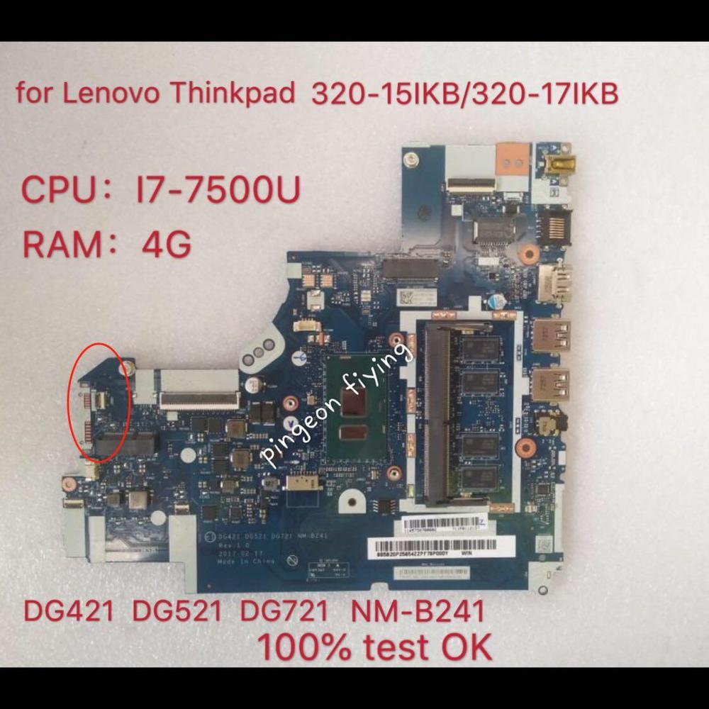 تنطبق على 320-17IKB الكمبيوتر اللوحة I7-7500U DDR(4G) عدد NM-B241 FRU 5B20P25854 5B20N86271 5B20N86623 5B20N86510