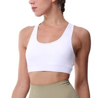 womens medium support cross back wirefree removable cups sport bra tops freedom seamless yoga running sports bras