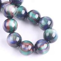 round glossy blue green 6mm 8mm 10mm 12mm resin plastic loose beads lot for jewelry making diy bracelet findings