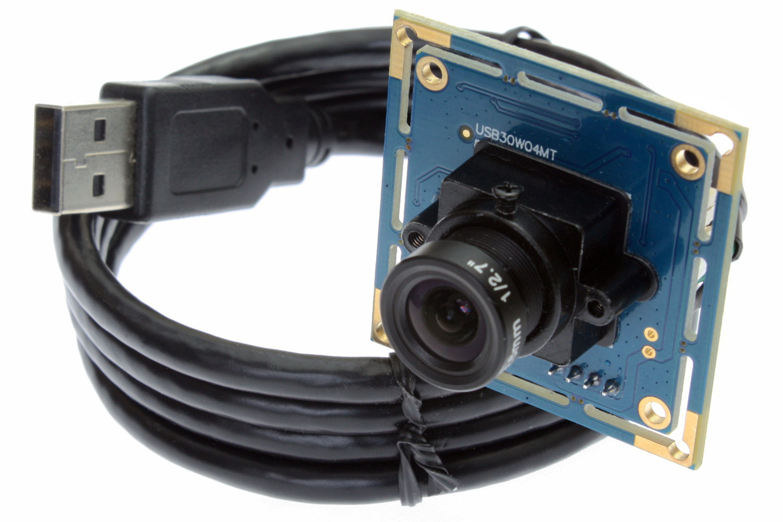 Lente de 12mm Linux/Android 640x480 OV7725 cámara usb cámara cmos módulo ELP-USB30W04MT-L12