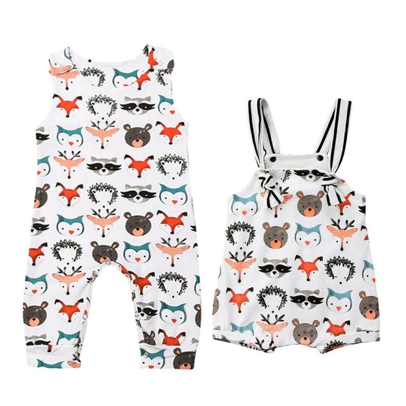 2020 ropa de recién nacido para bebés y niñas con estampado de animales mono traje de sol