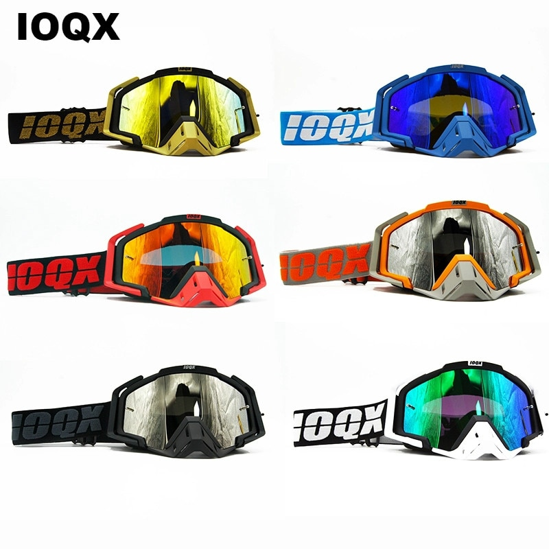 Moto Sunglasses Motorcycle Outdoor Glasses Goggles ATV For Motocross Glasses ATV Casque IOQX MX Motorcycle Helmet Goggles motorcycle atv riding scooter driving flying protective frame clear lens portable vintage helmet goggles glasses for 2009 buell xb12r