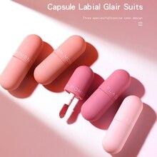 Nouveau mat velours Capsule lèvre glaçure teinte hydratante antiadhésive tasse miroir trois couches lèvres Gloos ensemble