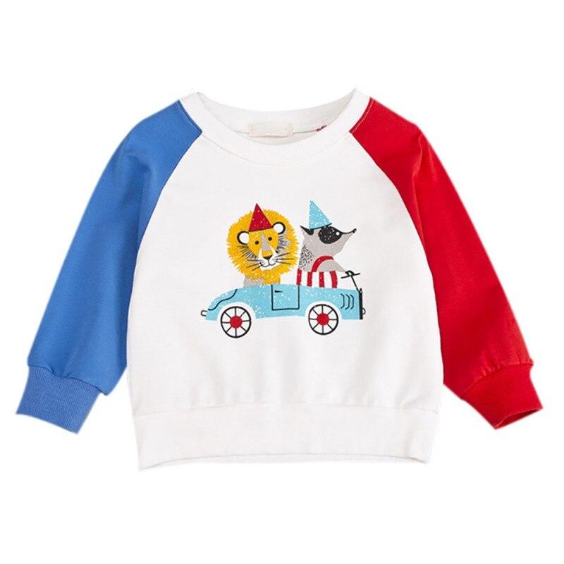 Crianças roupas de bebê menina menino dos desenhos animados impressão camisolas outono topos casual blusa da criança manga longa outerwear roupas infantis