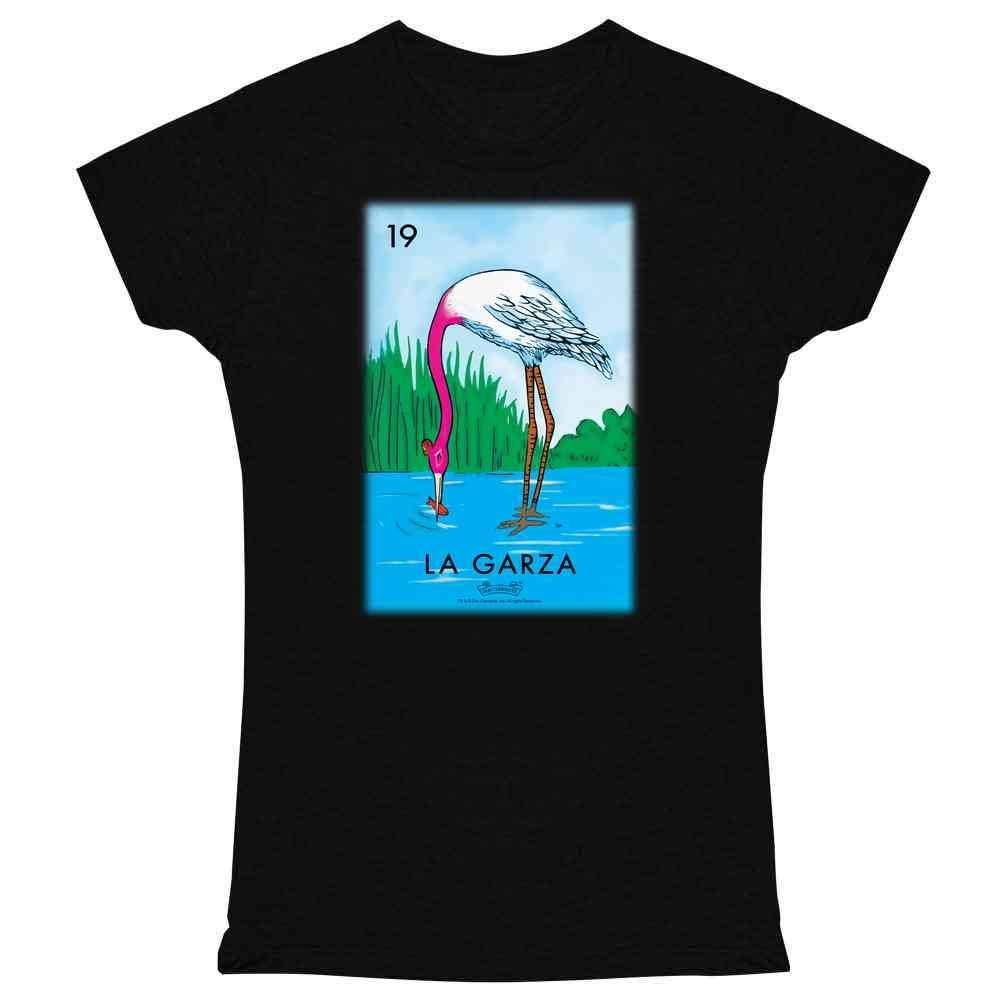Camiseta con estampado de La Garza Heron Card para mujer, playera estampada...