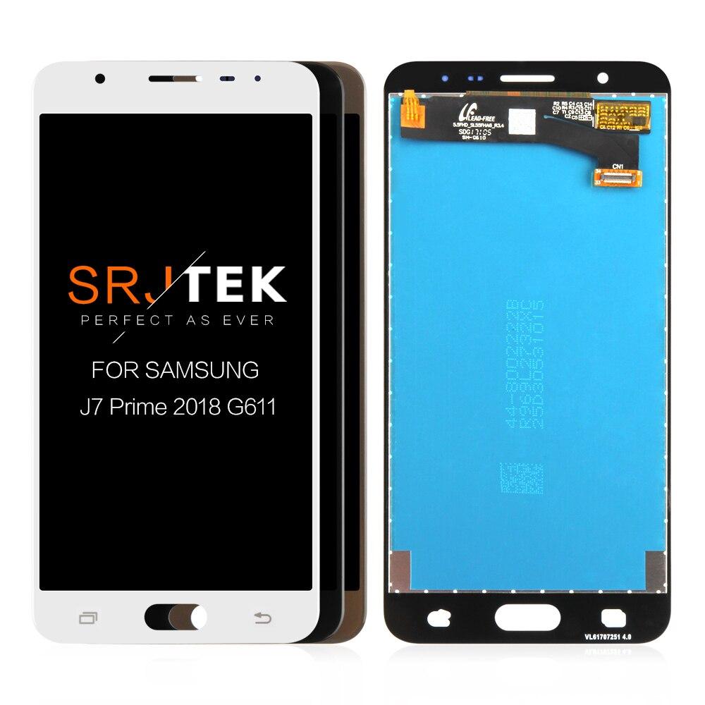 J7 primer 2018 pantalla para Samsung Galaxy J7 primer 2 2018 LCD táctil digitalizador de vidrio con marco G611M G611K G611 G611F LCD
