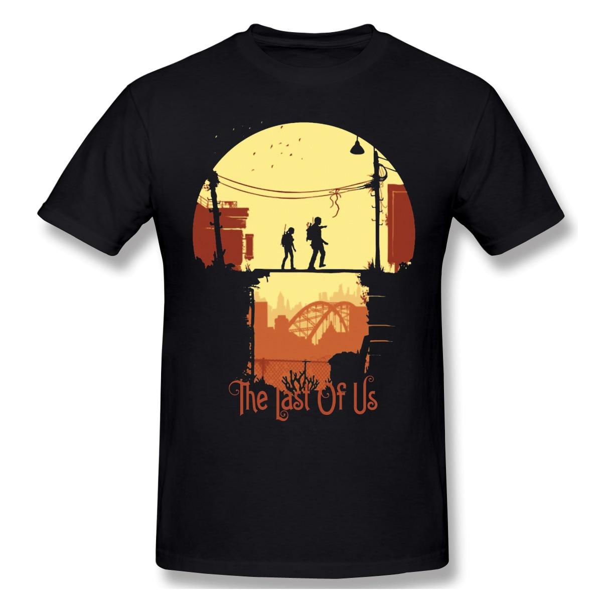 T-shirts homem impressionante os jogos camiseta pai dia topos o último de nós puro algodão t