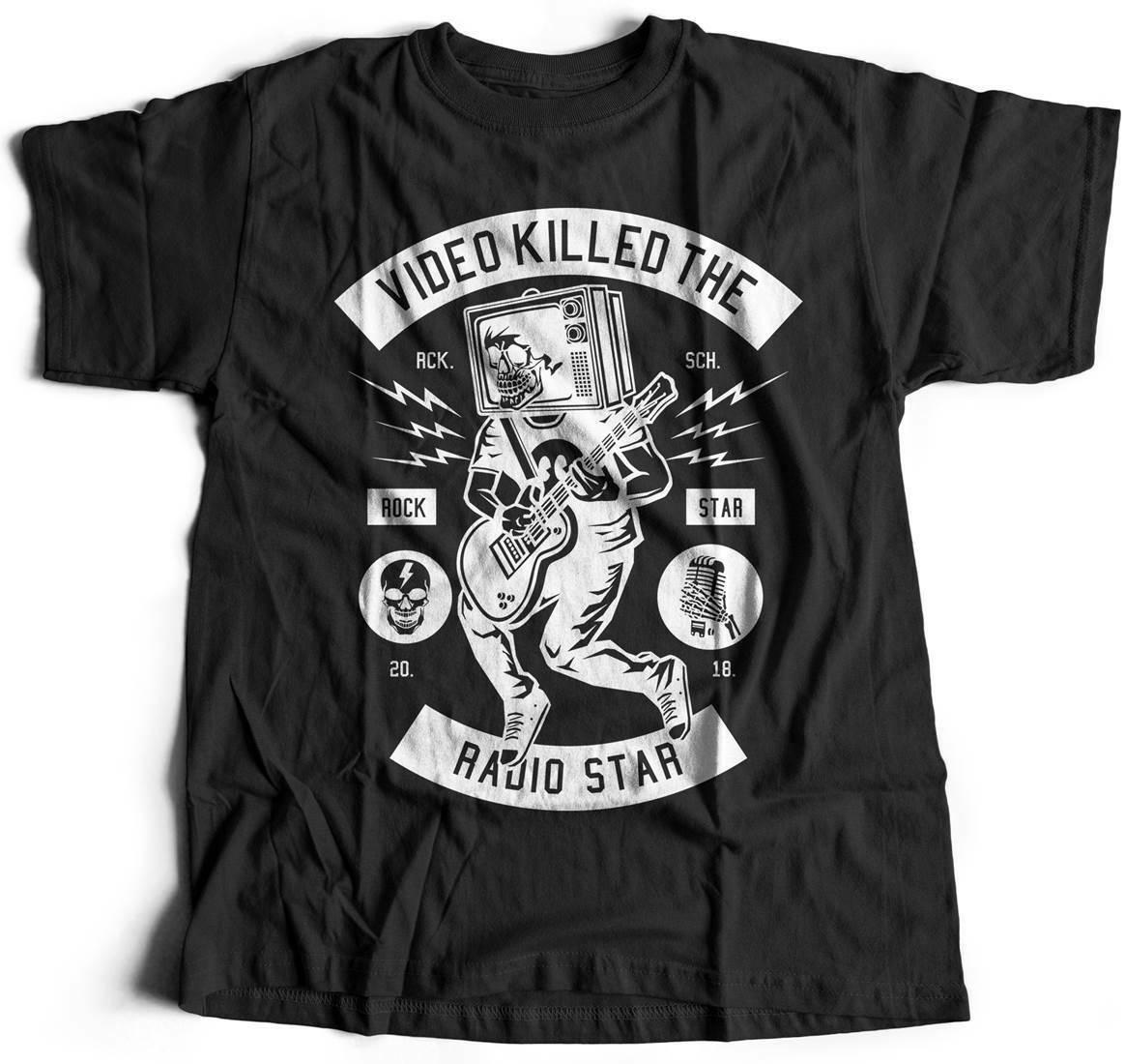 Estrella de Rock Tv música camiseta romper ruido nota guitarra romper Vintage Punk Cl B613