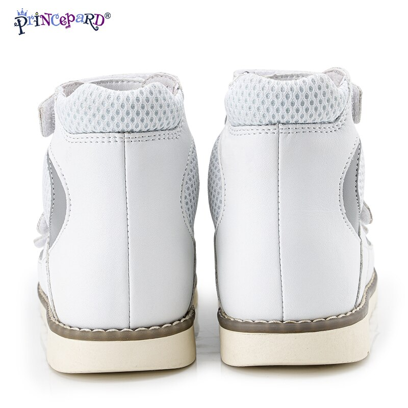 Orthopedic Summer Sandals for Kids Princepard Leather Children's Corrective Shoes Closed Toe Toddler Boys Sandals Arch Support enlarge