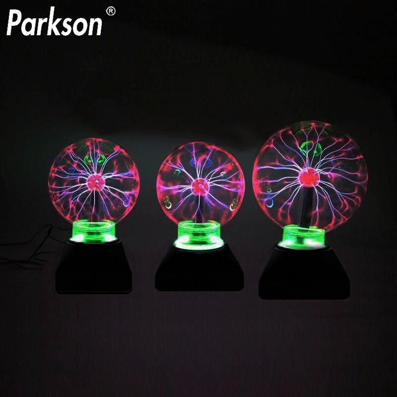 Novelty Lighting Magic Plasma Ball Lamp 3/4/5/6 Inch Night Light Lava Lamp Christmas Kids Gift Glass Lamp Decor Table Lights