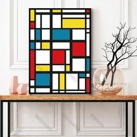 modern style canvas painting wall poster abstract patterns many squares with bright colors for living rooms bedroom wall decorat