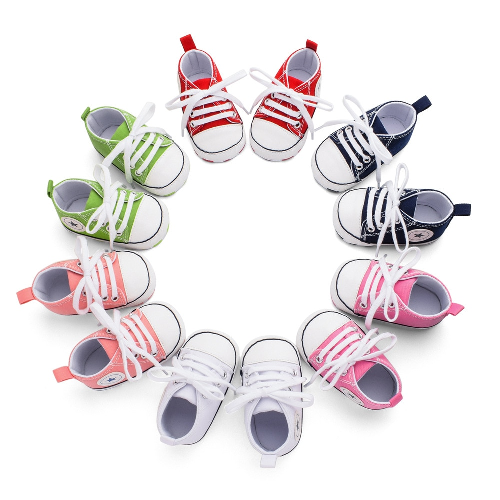 Spring Autumn Baby Fashion Sneakers Soft Sole Infant Crib Shoes Boys Girls Fashion Canvas Shoes Sports Shoes