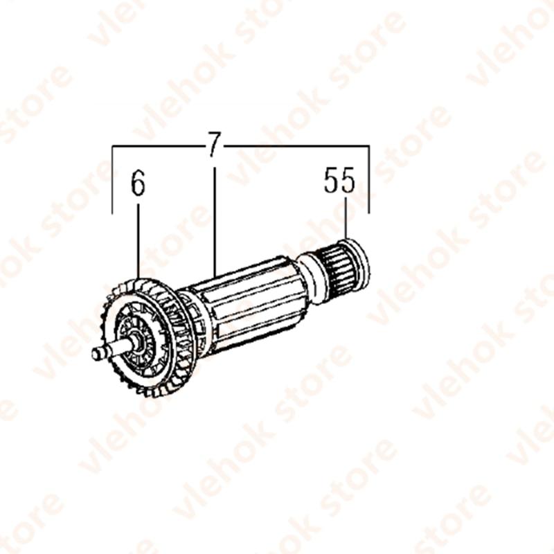 AC220-240V المحرك الدوار ل METBAO WE14-150Quick WE14-125Plus WEP14-125QuickRrotect WE14-125VS 310009170